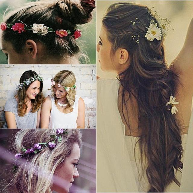 coroa de flores cabelo